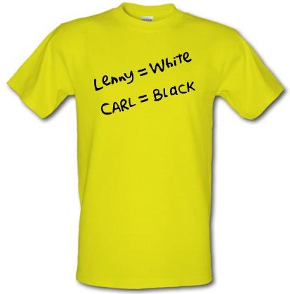 CHEAP Lenny White – Carl Black. Homer Hand male t-shirt. 3664378827  Novelty T-Shirts