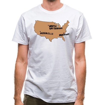 CHEAP By Gum It Put Them On The Map classic fit. 25414491143  Novelty T-Shirts