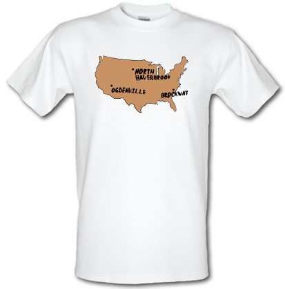 CHEAP By Gum It Put Them On The Map male t-shirt. 3664378825  Novelty T-Shirts