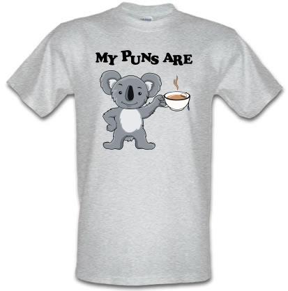CHEAP My Puns Are Koala Tee male t-shirt. 3664378829  Novelty T-Shirts