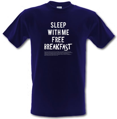 CHEAP Sleep With Me. Free Breakfast male t-shirt. 3664378831  Novelty T-Shirts