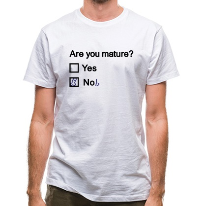 CHEAP Are You Mature? classic fit. 25414490469  Novelty T-Shirts