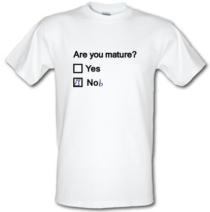 CHEAP Are You Mature? male t-shirt. 3670436405  Novelty T-Shirts