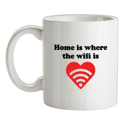 CHEAP Home Is Where The Wifi Is mug. 24074191091  Novelty T-Shirts