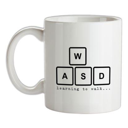CHEAP WASD Learning To Walk mug. 24074194893  Novelty T-Shirts
