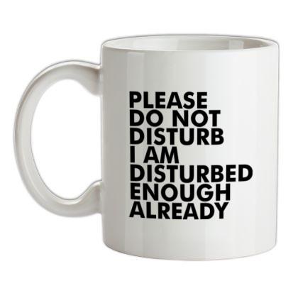 CHEAP Please Do Not Disturb I Am Disturbed Enough Already mug. 24074193593  Novelty T-Shirts