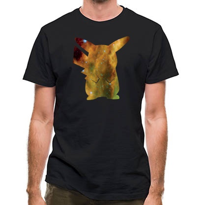 CHEAP Pika-Galaxy classic fit. 25414496581  Novelty T-Shirts