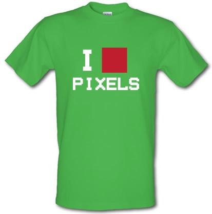 CHEAP I Love Pixels male t-shirt. 3698983673  Novelty T-Shirts