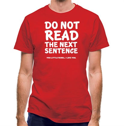 CHEAP Do Not Read The Next Sentence. You Little Rebel. I Like You. classic fit. 25414491857  Novelty T-Shirts