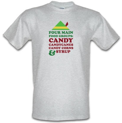 CHEAP Four Main Christmas Food Groups male t-shirt. 3720139233  Novelty T-Shirts