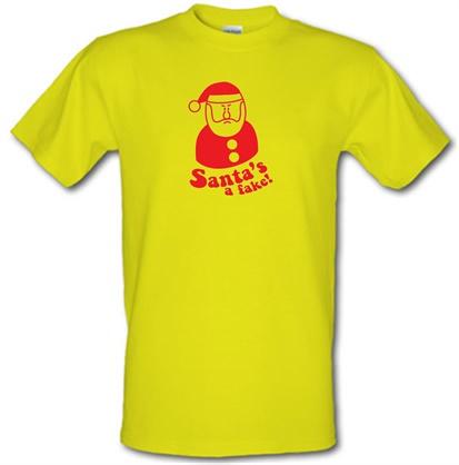 CHEAP Santa's A Fake! male t-shirt. 51135818  Novelty T-Shirts