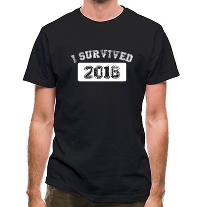 CHEAP I Survived 2016 classic fit. 25414494571  Novelty T-Shirts