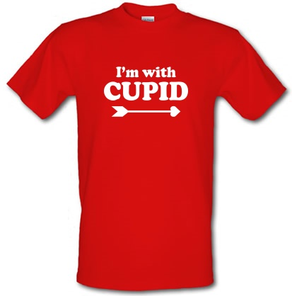 CHEAP I'm With Cupid male t-shirt. 3792432269  Novelty T-Shirts