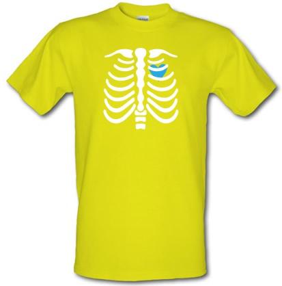 CHEAP Blue Heart Skeleton male t-shirt. 3792432265  Novelty T-Shirts