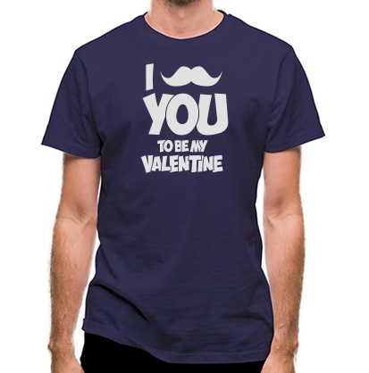 CHEAP Moustache You To Be My Valentine classic fit. 25414495717  Novelty T-Shirts