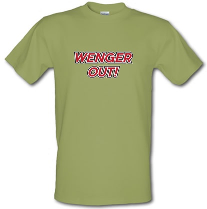 CHEAP Wenger Out ! male t-shirt. 6131055227  Novelty T-Shirts