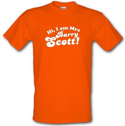 CHEAP Hi I am Mrs Barry Scott male t-shirt. 51135700  Novelty T-Shirts