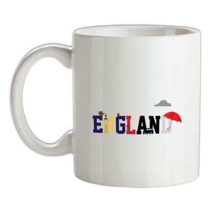 CHEAP England Word Icons mug. 24074190121  Novelty T-Shirts