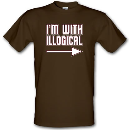 CHEAP I'm With Illogical male t-shirt. 21277449937  Novelty T-Shirts