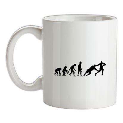 CHEAP Evolution of Man Rugby mug. 24074190219  Novelty T-Shirts