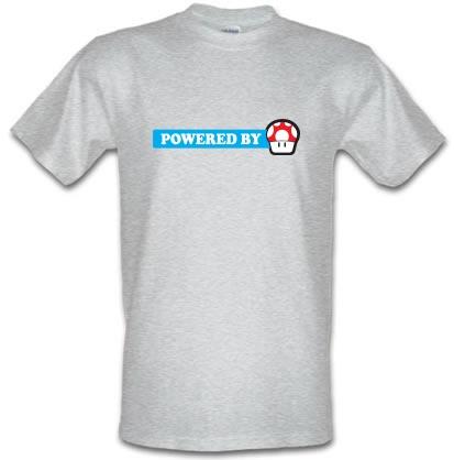 Powered By Mushroom male t-shirt.