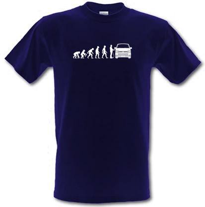 Evolution of Man T5 Campervan male t-shirt.