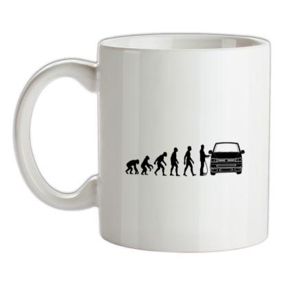 Evolution of Man T5 Campervan mug.