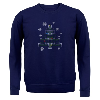 Pac Man Xmas Tree Jumper By Chargrilled