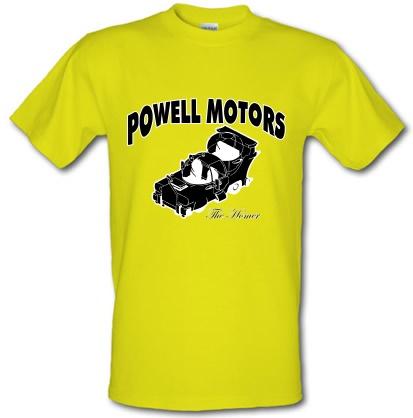 Novelty T-Shirts Powell Motors male t-shirt.