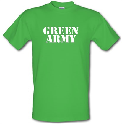 Green Army male tshirt.