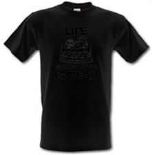 Image of Life Is Hard In The Gateau male t-shirt.