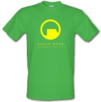 Black Mesa Research Facility male tshirt.