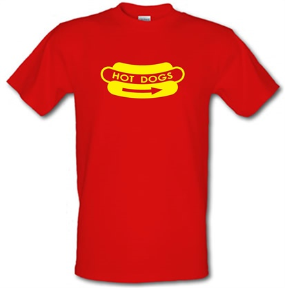 Hot Dogs male tshirt.