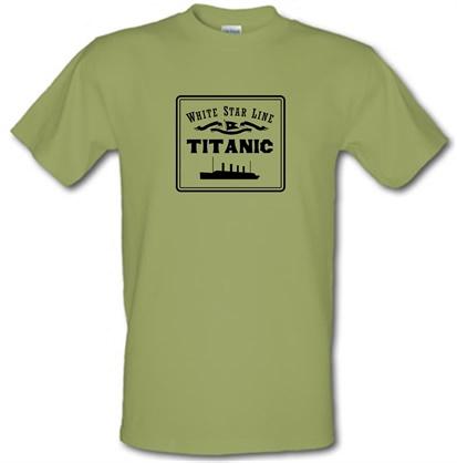 White Star Line Titanic male tshirt.