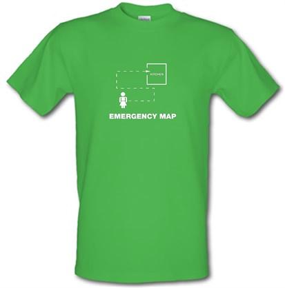 Emergency Map male t-shirt.