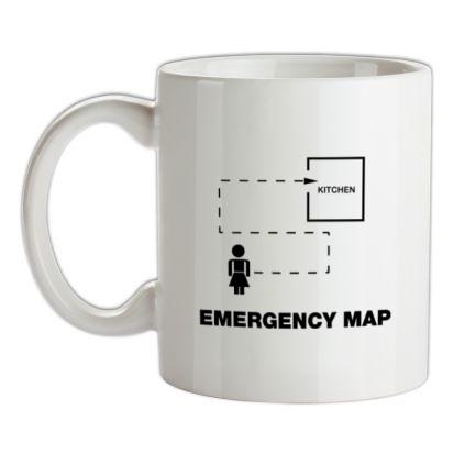 Emergency Map mug.