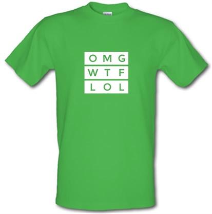 OMG WTF LOL male t-shirt.