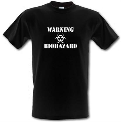 Image of Warning Biohazard male t-shirt.