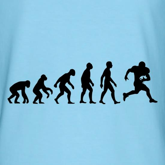 Evolution of man american football t shirt by chargrilled American football style t shirts