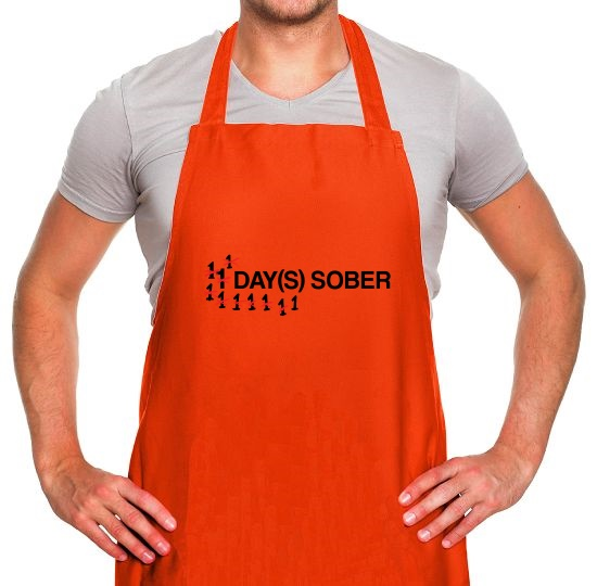 1 Day Sober Apron