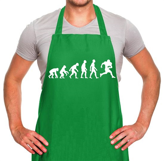 Evolution Of Man American Football Apron