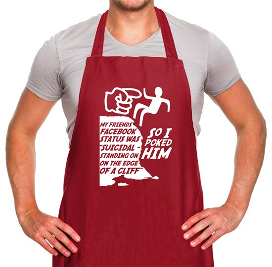 My Friends Status Was... Apron