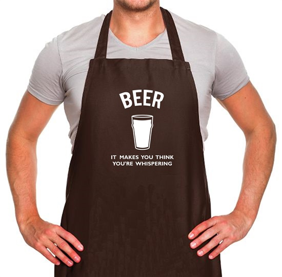 Beer It Makes You Think You're Whispering Apron