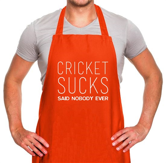 Cricket Sucks Said Nobody Ever Apron