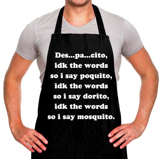 Despacito Song Lyrics Apron