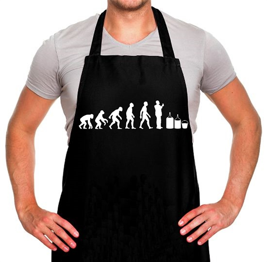 Evolution Of Man Homebrew Apron