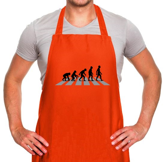 Evolution Of Man Abbey Road Apron
