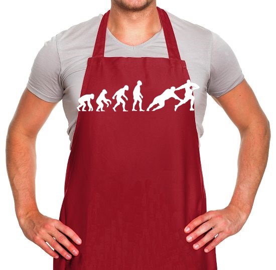 Evolution of Man Rugby Apron