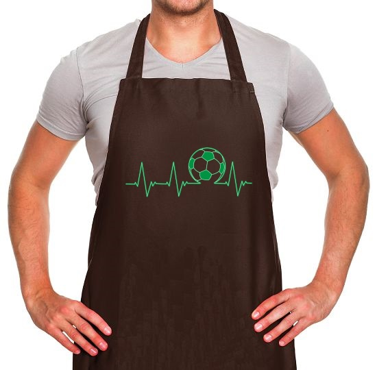 Football Heartbeat Apron