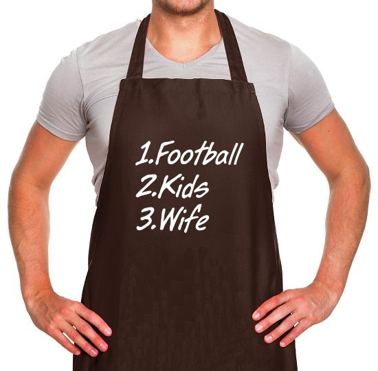Football Kids Wife Apron
